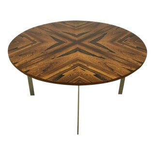 Richard Young Rosewood and Chrome Table