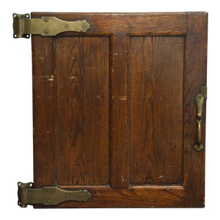 Antique Wood Refrigerator Door