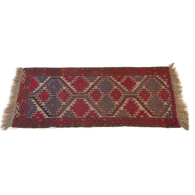 Vintage Handknotted Persian Runner - 1′9″ × 4′8″ - Image 4 of 6