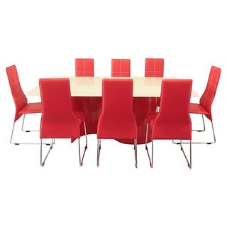 Scan Designs Red Wave Dining Table & Chairs