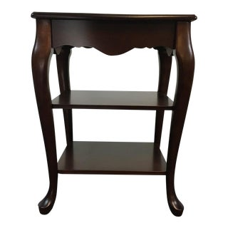 Contemporary Queen Anne Style Two-Tier End Table