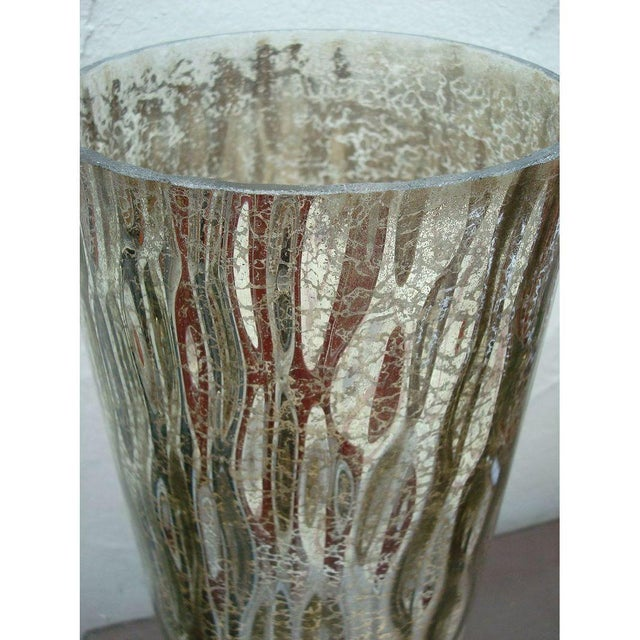 Modern Textured Metallic Glass Table Lamp - Image 6 of 6