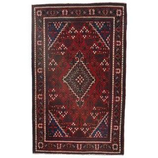 Persian Hamedan Hand Knotted Wool Rug - 4′1″ × 6′7