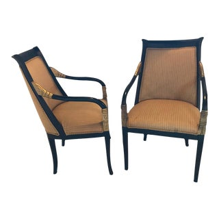 A Pair of Hollywood Regency Style Grosfeld House Arm Chairs