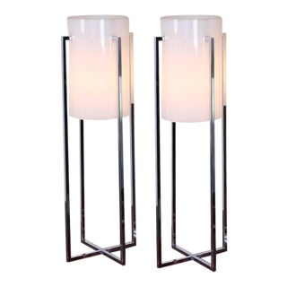 Pair of Tall Table Lamps by Sonneman