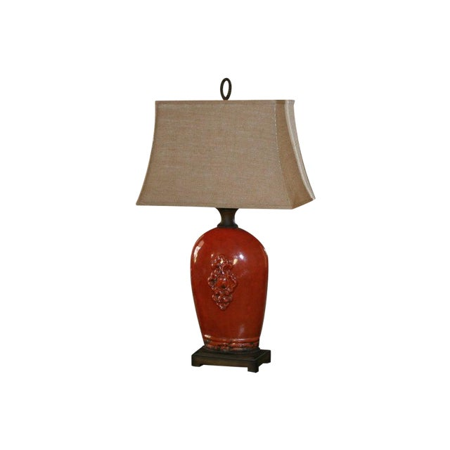 Large Tuscan Red Table Lamp - Image 10 of 10
