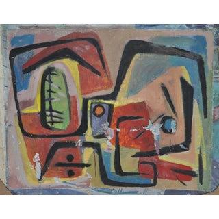 Neuman Mid-Century Modern Abstract Painting