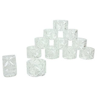 Crystal Napkin Rings - Set of 12