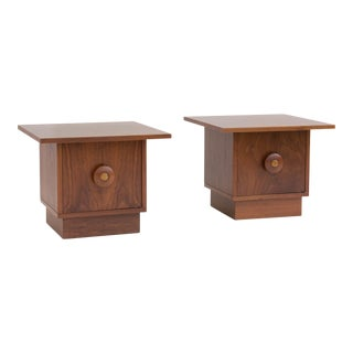 Pair of Brown Saltman Nightstands