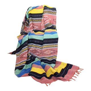 Vintage Mexican Hand Loomed Blanket