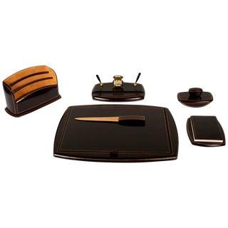 Mid-Century Italian 6-Piece Leather Desk Set