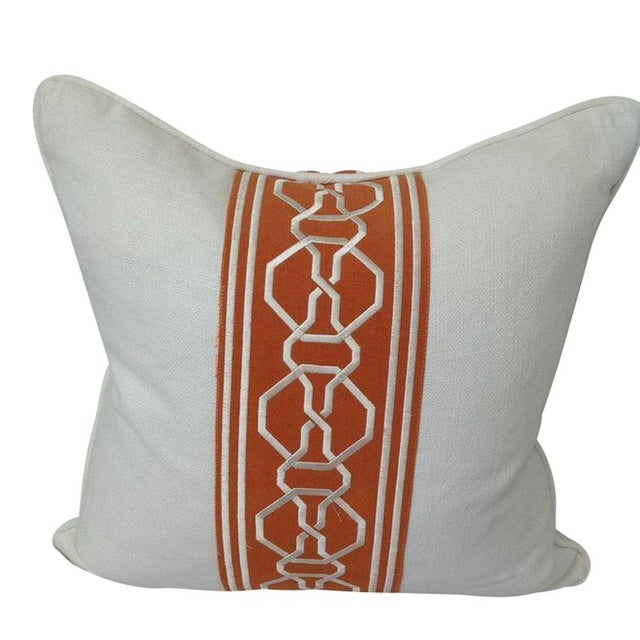 White and Orange Throw Pillow Chairish