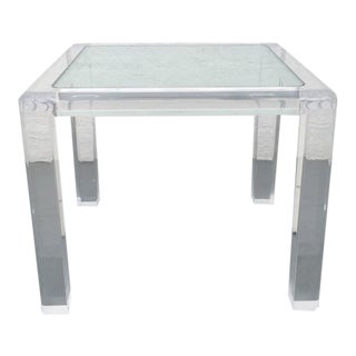Acrylic and Glass Occasional Table by Les Prismatiques