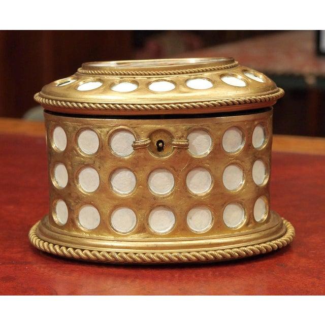 "Charles X Gilt and Mosaic Jewlery Box, Signed ""Tahan, Paris"" - Image 8 of 8"