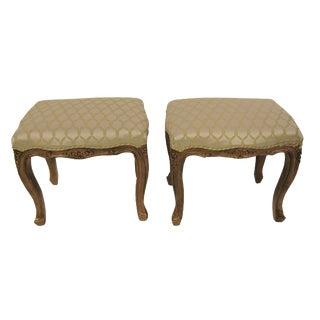 Italian Louis XVI Style Footstools - A Pair