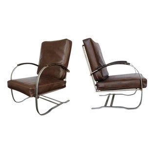 Wolfgang Hoffmann Springer Chair for Howell, Pair
