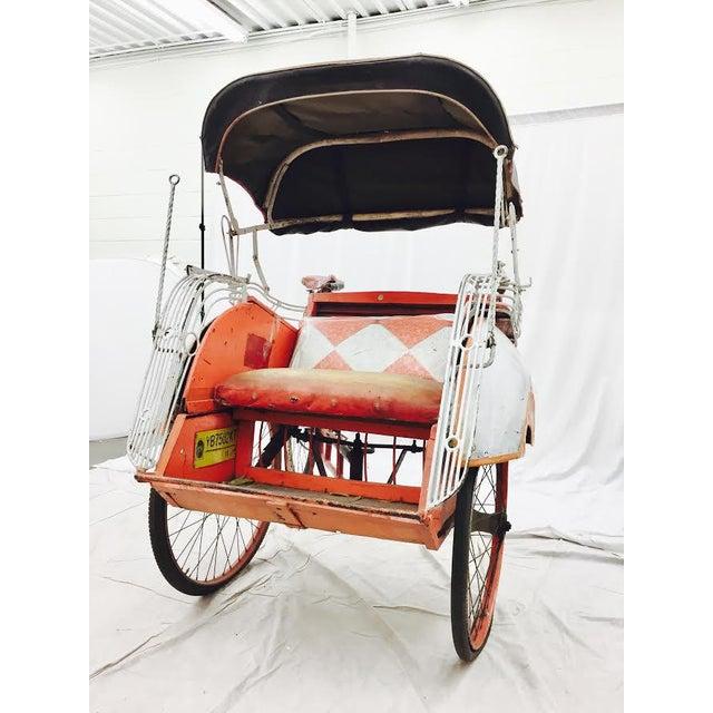 Vintage Indian Rickshaw Cart - Image 4 of 11