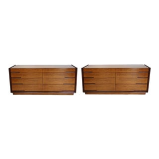 Pair of Edmund Spence Long Low Double Dressers