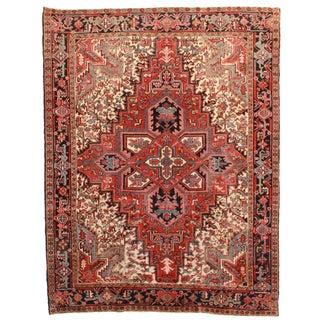 RugsinDallas Hand Knotted Wool Persian Heriz Rug - 7′ × 9′