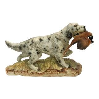 Ceramic Hunting Dog Figure