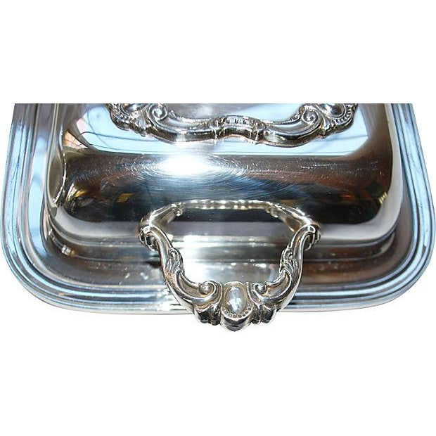 Image of Rochelle Silver Covered Serving Dishes - A Pair