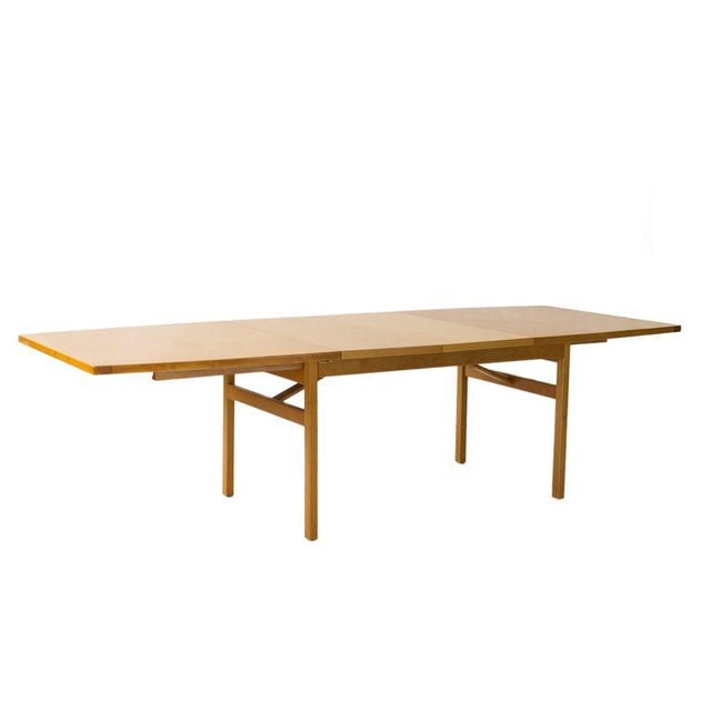 Jens Risom Dining Table with Leaves - Image 4 of 6