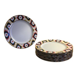 C. Wonder Multicolor Ikat Dinner Plates - Set of 8