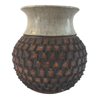 Hand Crafted Textured Pottery Vase