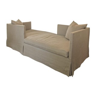 Double Open Sided Slip Covered Sofa