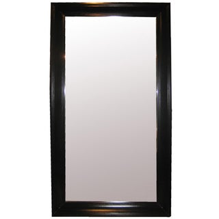 Hand-Rubbed Black Frame Mirror