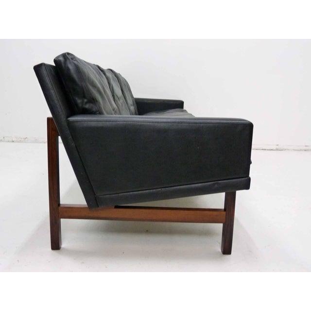 sven ellekaer danish modern rosewood leather sofa chairish