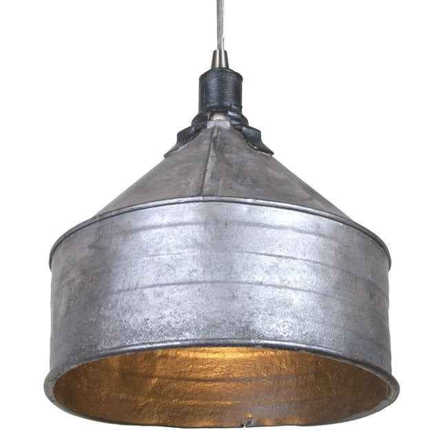Vintage Tractor Lights : Refinished vintage tractor funnel pendant light chairish