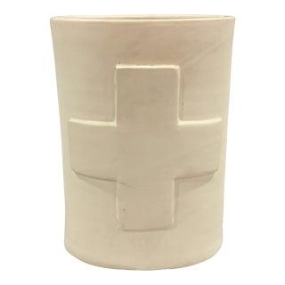 Jonathan Adler Couture White Ceramic Vase