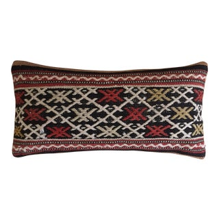 Turkish Kilim Beige & Red Pillow Cover