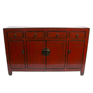 1890's Chinese Red Sideboard