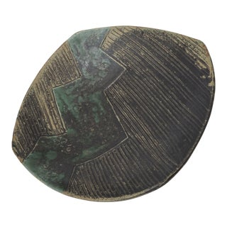 Green & Black Abstract Ceramic Bowl
