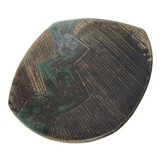Green & Black Abstract Ceramic Bowl