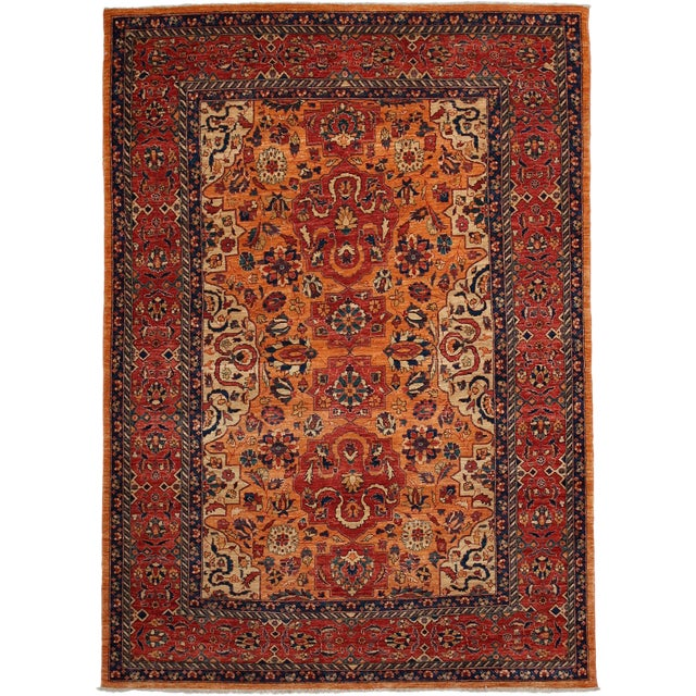 "Traditional Hand Knotted Area Rug - 5'8"" X 7'10"" - Image 1 of 3"