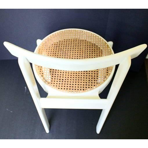 Midcentury Italian White Lacquered Chairs - A Pair - Image 9 of 10