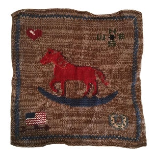 Ralph Lauren Rocking Horse Knit Pillow Front
