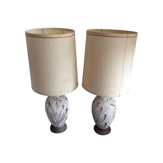 Image of Mid-Century Ceramic Lamps - A Pair