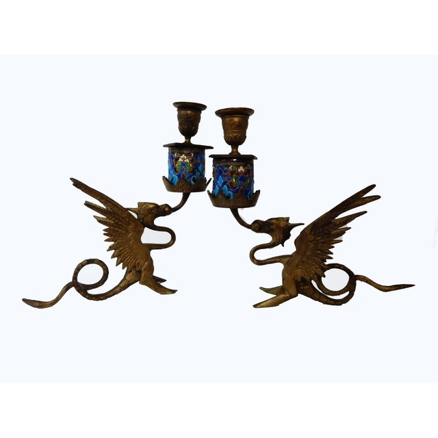 French Gothic Gargoyle Candle Holders - A Pair - Image 7 of 7