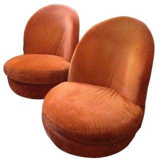 Milo Baughman, Thayer Coggin Swivel Chairs - Pair