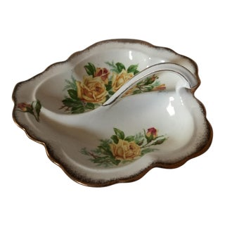 "Royal Albert ""Tea Rose"" Leaf Shaped Dish"
