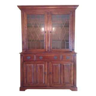 Nichols & Stone Carved Contemporary China Cabinet