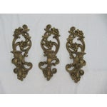 Image of Homoco Gold Candle Sconces - Set of 3