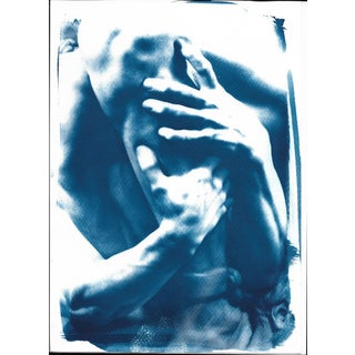"""Ugolino and His Sons"" Cyanotype Print"