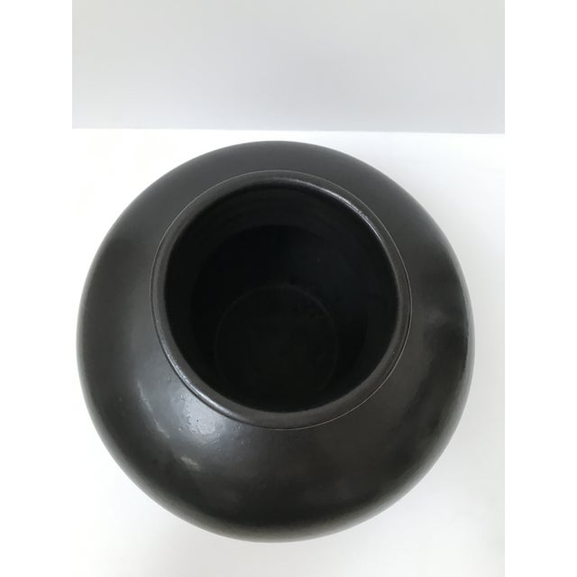 Organic Modern Large Black Vase - Image 4 of 6