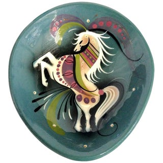 Ceramic Hand-Painted Horse Dish