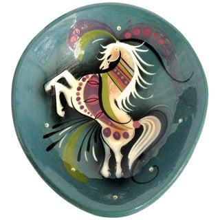 Ceramic Hand-Painted Horse Dish